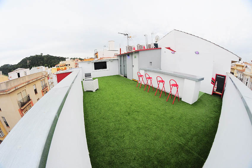 roofterrace of language school in Málaga