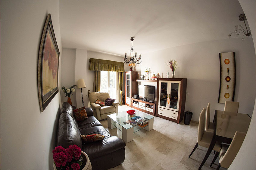 living room in the apartment in Málaga provided by eCenter