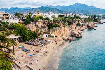 beach in Nerja near Málaga