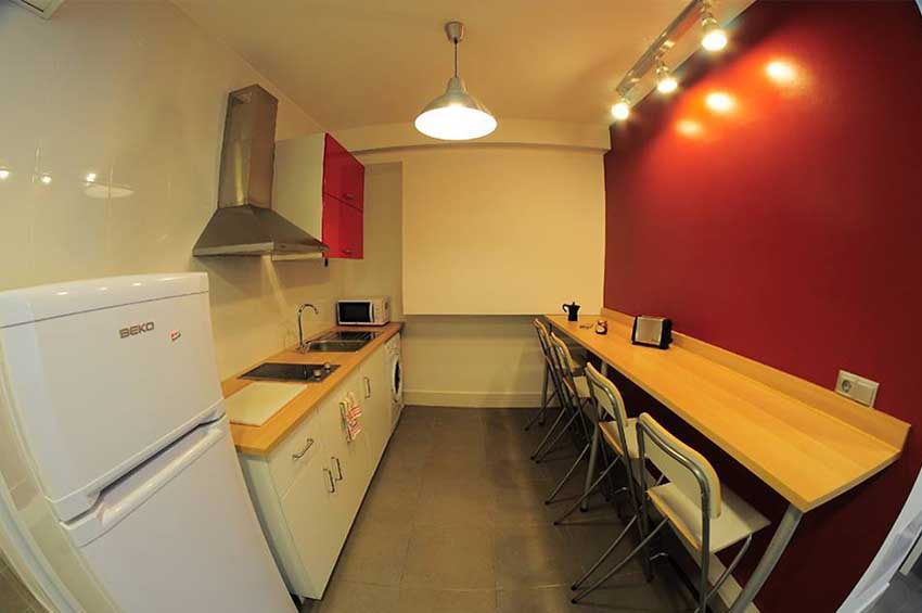 kitchen in the building of language school in Málaga