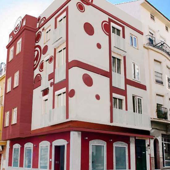building of language school in Málaga